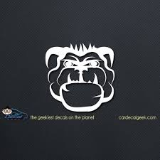 Mean Badass Bulldog Car Sticker Decal