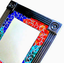 com mosaic wall mirror framed