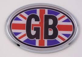 Amazon Com Great Britain Gb British Car Chrome Emblem Bumper Sticker Flag Decal Oval Automotive