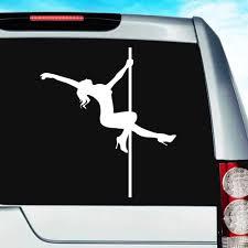 Pole Dancer Stripper Vinyl Car Truck Window Decal Sticker