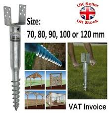 Fence Post Spike Support Ground Screw Holder Anchor Square 70 80 90 100 120 Mm Ebay