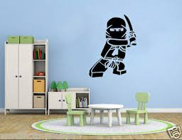 Lego Ninjago Superhero Vinyl Wall Decal Decor Mural Removable Vinyl Wall Art 10 00 Picclick