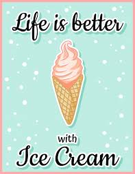 life is better ice cream cute cartoon postcard creative
