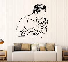 Wall Vinyl Decal Father Son Parental Love Home Interior Decor Unique G Wallstickers4you