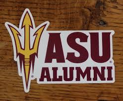 Arizona State University Alumni Sun Devils Ncaa Die Cut