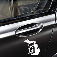 Michigan Mitten Old English Detroit Tigers Vinyl Decal Car Window Sticker Buy At A Low Prices On Joom E Commerce Platform
