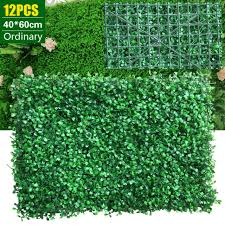 Artificial Hedges Panel Topiary Grass Wall Fence Screen Green Backdrop Props For Sale Online Ebay