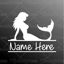 Mermaid With Custom Name Decal Mermaid With Custom Name Car Sticker Lowest Prices
