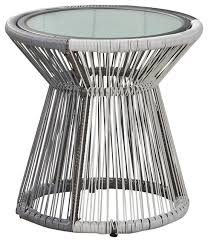 olivia outdoor faux rattan side table