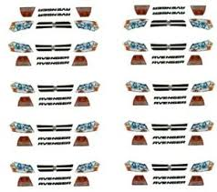 Dodge Avenger Headlight And Tailights Nascar 1 64th Ho Scale Slot Car Decals Ebay