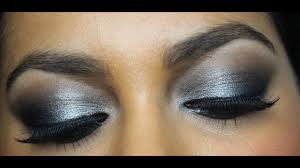 silver black eid eye makeup tutorial