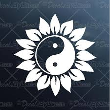 Yin Yang Flower Decal Yin Yang Flower Car Sticker Fast Shipping