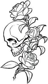 Death Love Rose Flower Skull Vinyl Sticker