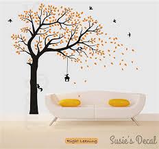 Big Black Tree Wall Sticker And White Family Decal Design Cat Palm Silhouette Vinyl Vamosrayos