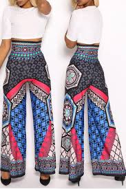 lovely ethnic style totem printed blue