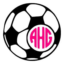 Monogram Soccer Ball Car Wall Vinyl Decal Etsy