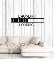 Amazon Com Vinyl Wall Decal Laundry Room Loading Pixel Art Decor Stickers Large Mural Ig5301 Home Kitchen