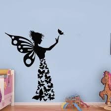 Butterfly Girl Handmade Sticker Butterflies Wall Sticker Etsy