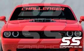 For Dodge Challenger Windshield Vinyl Decal Sticker Banner Car Stickers Aliexpress