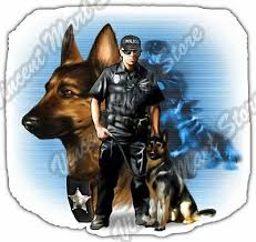 Police Dog K9 K 9 Officer German Shepherd Car Bumper Vinyl Sticker Decal 4 6 Ebay