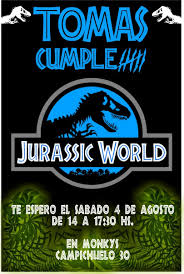 Invitacion Cumple Jurassic World X 20uni 290 00 En Mercado Libre