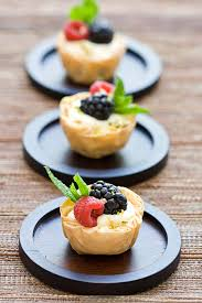cream cheese mousse phyllo tartlets