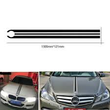 Car Hood Stripes Lines Decals Engine Cover Vinyl Stickers For Bmw Mercedes Benz Ebay