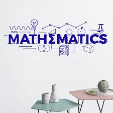 Mathematics Wall Decal Math Classroom Decor School Vinyl Sticker Gift Education Quote Sign Science Motivational Poster Decoration Wish