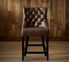 hayes tufted leather bar stools