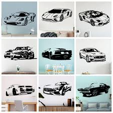 Modern Sport Car Vinyl Wall Sticker Cars Wall Decor For Living Room Decoration Bedroom Decor Home Wall Art Decals Wallpaper Shop The Nation