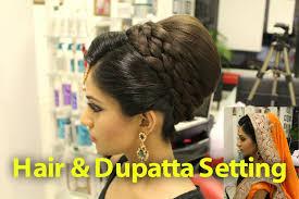 indian stani asian bridal hair