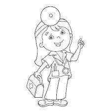 Kleurplaat Pagina Overzicht Van Cartoon Arts Met Ehbo Kit Clipart
