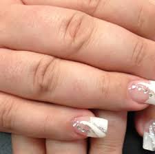 36 white tip nails with design nailspix