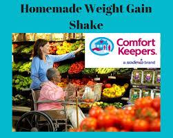 caregiver s homemade weight gain shake