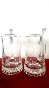 beer jugs ground glass