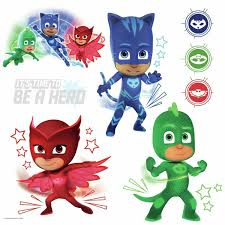 New Pj Masks Stickers Glow In Dark 8 Wall Decals Catboy Owlette Gekko Room Decor For Sale Online