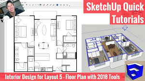 floor plan in layout with sketchup
