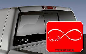 Love Infinity Car Truck Laptop Lettering Words Decal
