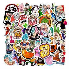 Akoada Dragon Ball Z Car Stickers Anime Bumper Sticker For Phone Laptop Car Lugguage Skateboard And More Walmart Com Walmart Com