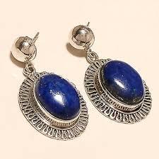 natural afghan lapis lazuli earrings
