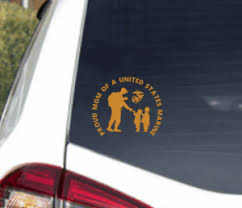 Us Marine Corps Proud Mom Decal Sticker Usmc Military Seal Car Truck Window Ebay