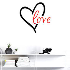 Bibitime 16 93 X 16 93 Black Heart Red Love Wall Decal Vinyl Sticker For Baby Infants Toddlers Nursery Bedroom Chi Vinyl Wall Decals Love Wall Kid Room Decor