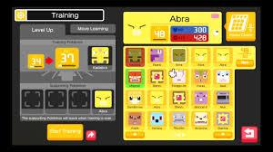 Pokemon Quest] Evolution Level: Abra to Kadabra (Lv 16) to ...