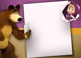 Uau Veja O Que Temos Para Invitation Masha And The Bear Masha