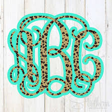 Layered Cheetah Monogram Decal Sew Southern Designs