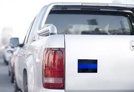 Classic Thin Blue Line Car Decal 3 X 5 Inches Reflective Pack Of 3 Thin Blue Line Usa