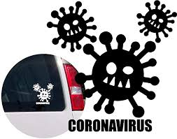 Amazon Com Coronavirus Covid 19 Vinyl Decal Sticker For Bumper Car Windows Truck Wall Laptop Cell Book Bike Cup 4x4 Off Road Boat Motorcycle Rv Trailer Designs 2 Arts Crafts Sewing