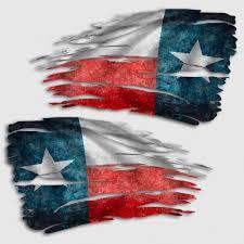 Tattered Texas Flag Decal Distressed Texan Lone Star Sticker