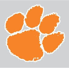 Amazon Com Clemson Tigers Orange Tiger Paw Logo 4 Vinyl Decal Car Truck Clemson Sticker Everything Else