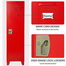 Shop Kids Storage Metal Locker With 2 Adjustable Shelves For Bedroom Kids Room Overstock 31908472